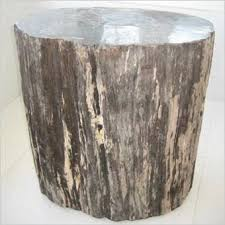 Wood Accent Table Petrified Wood Scan Design Modern U0026 Contemporary Furniture Store