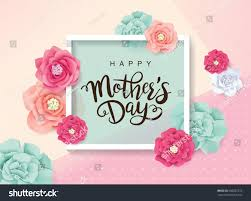 mothers day greeting card blossom flowers stock vector 606662372