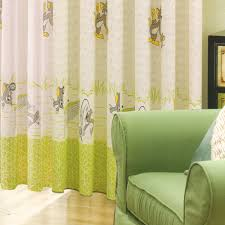 cartoon patterns beaded baby boy nursery curtains