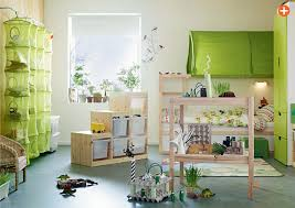 Green Boy Bedroom Ideas A Parent And Child Shared Bedroom And Workspaces With Curtain