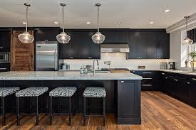 Black Shaker Kitchen Cabinets Woodwork Custom Kitchen Cabinets Calgary
