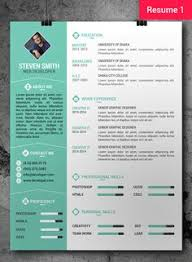 free professional resume template resume cv creative 1 and by