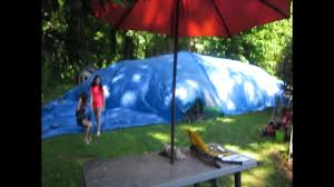 how to make a giant fan fort air dome in your back yard youtube