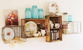 vintage crate and wire basket shelves hometalk
