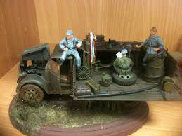 german opel blitz truck scale model workbench 1 35 diorama