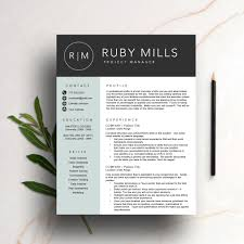 Instant Resume Template Creative Resume Template For Word U0026 Pages 1 And 2 Page