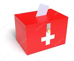 Flag White With Red Cross Swiss Flag Ballot Box U2014 Stock Photo Klenger 58438757