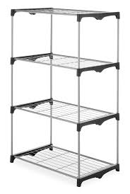 whitmor 4 tier closet shelves silver walmart com