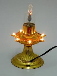 buy a to z traders 1 layer electric gold diya deepak light lamp electric golden diya deepak rice light bulb lamp for diwali pooja puja and hand shape led