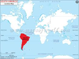 south america map equator where is south america south america location in world map