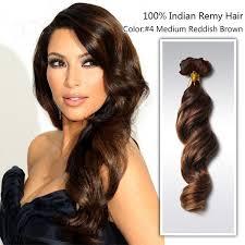 owigs hair extensions 14 medium reddish brown 4 wavy indian remy human hair weaving