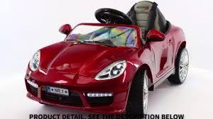 Porsche Boxster Model Car - 2017 12v porsche boxster style electric ride on car power