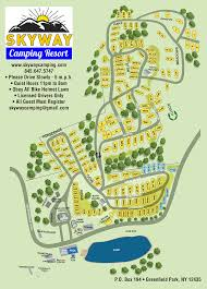 Hunting Island State Park Map by Skyway Camping Resort Greenfield Park Ny Campground