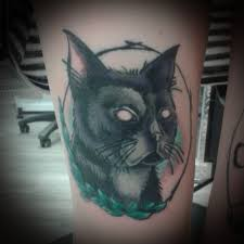 black cat tattoo design ideas with meaning 2018 black cat