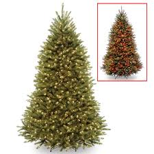amazon com national tree 7 5 foot dunhill fir tree with 700 dual