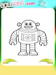 iron robot coloring book kids family app store