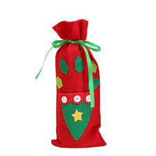 santa wine bottle gift bag ornaments cover home