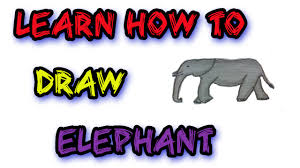 simple elephant drawing tutorial for beginners youtube