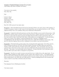 Formal Letter Block Format by Business Cover Letter What Should A Cover Letter Contain Choice