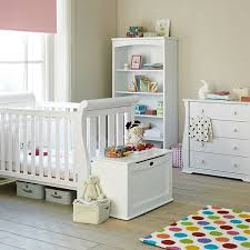 boori nursery furniture in white sleigh 3 in 1 cot sleigh 4