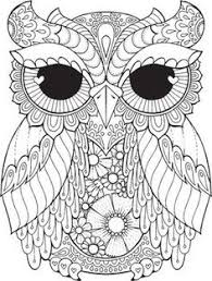 owl coloring book page zentangle doodle coloring pages for