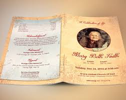 sle of funeral programs tropical funeral program publisher template from godserv on etsy