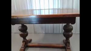 Draw Leaf Dining Table Antique Carved Dining Table Solid Oak Extendable Draw Leaf