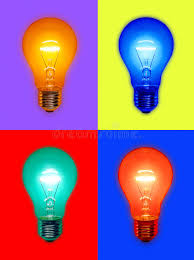 colored fluorescent light bulbs colored light bulbs stock photo image of glowing colorful 4972790