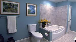spa like bathroom on a budget video hgtv