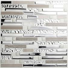 stainless steel mosaic tile backsplash crackle crystal tiles stone backsplash silver plating glass and