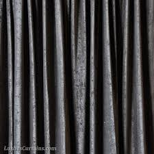 Charcoal Drapes 16 Ft High Fire Rated Velvet Curtains 192 Inch Black Drapes