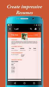 Resume Maker Pro 17 My Resume Builder U0026 Cv For Free Professional Jobs Android Apps