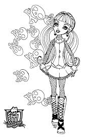 monster high coloring pages clawdeen wolf 17 draculaura coloring page draculaura skull shores