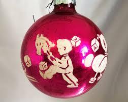 vintage shiny brite ornaments etsy