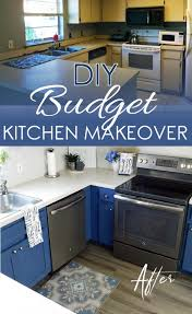 how to replace kitchen cabinets on a budget diy kitchen makeover on a budget beginner s story my