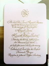 engraved wedding invitations wedding invitations with gold calligraphy engraving