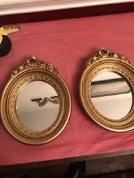 home interiors mirrors set of two homco home interiors mirrors oval gold ornate 7 x 9