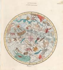World Map Hemispheres by Antique Astronomy Map Southern Hemisphere Hjbmaps Com