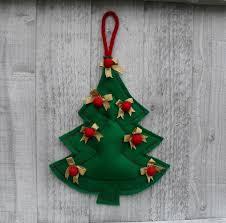 green christmas tree felt ornament sewing pattern pdf diy