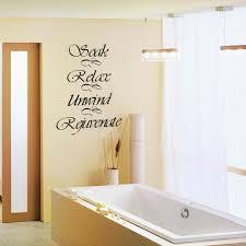 popular wall decals quotes bath buy cheap wall decals quotes bath bathroom wall decal quote soak relax unwind rejuvenate bath room bath tub vinyl art sticker