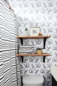 jackalope wallpaper bathroom diy smooth textured walls