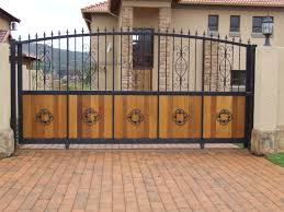 outstanding design of gate also different colorshouse steel