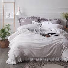 White Ruffle Duvet Cover Queen Online Get Cheap Queen Bedding For Girls Aliexpress Com Alibaba