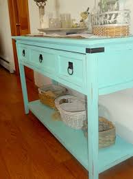 Turquoise Console Table A Heartful Home Chalk Paint Console Table