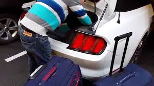 mustang convertible trunk ford mustang 2016 2017 convertible boot trunk size