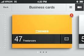 terrific business card creator app design free maker elegant