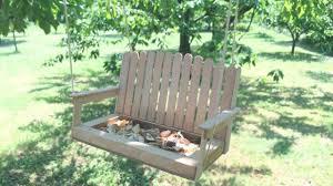 how to create a pretty swing bench birds feeder diy crafts