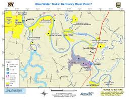 map kentucky lakes rivers kentucky department of fish wildlife kentucky river pool 7