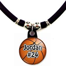 personalized basketball necklace basketball necklace with your name and number
