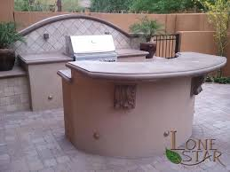 Kitchen Island With Bar Top Outdoor Kitchen With Separate Bbq Island With Bar Top Concrete